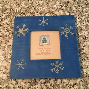 Holiday Homecomings blue Christmas picture frame